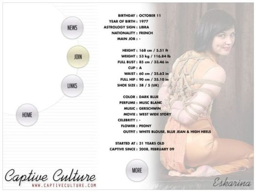 Screen Capture of the Models Page - Eskarina
