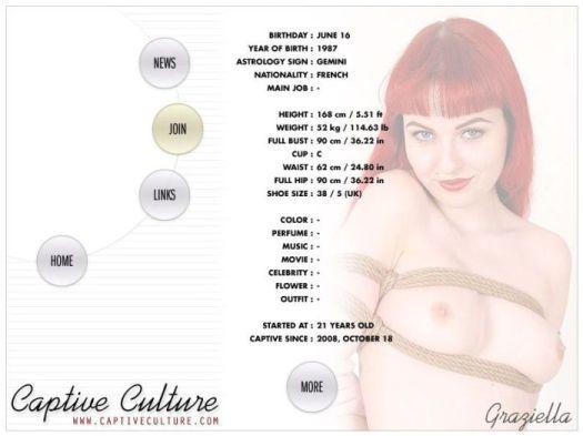 Screen Capture of the Models Page - Graziella
