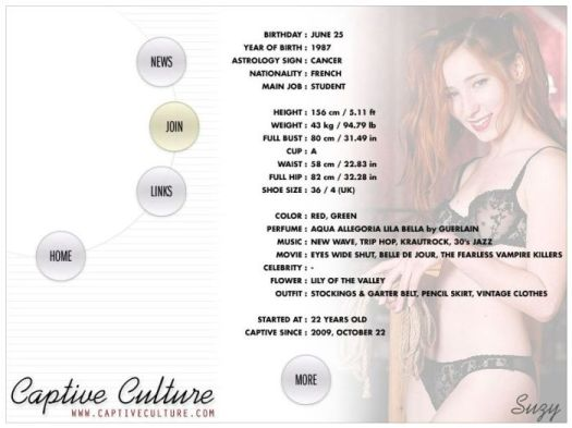 Screen Capture of the Models Page - Suzy